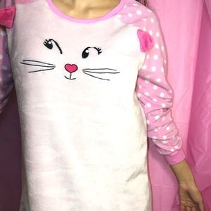 Joe boxer pink kitty cat pajama dress. X-large